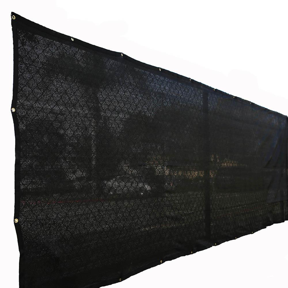 60 in. H x 300 in. W Polyethylene Black Privacy /
