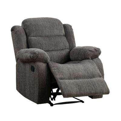 Jordina Gray Chenille Recliner Chair