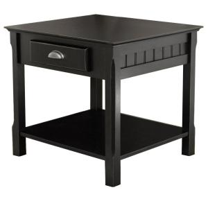 Winsome Wood Timber Black End Table by Winsome Wood