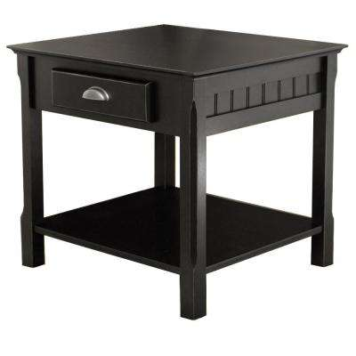 Timber Black End Table