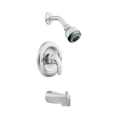 Adler Single-Handle 1-Spray Tub and Shower Faucet with Valve in Chrome (Valve Included)