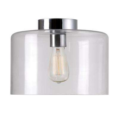 Capri 1-Light Chrome Flush Mount