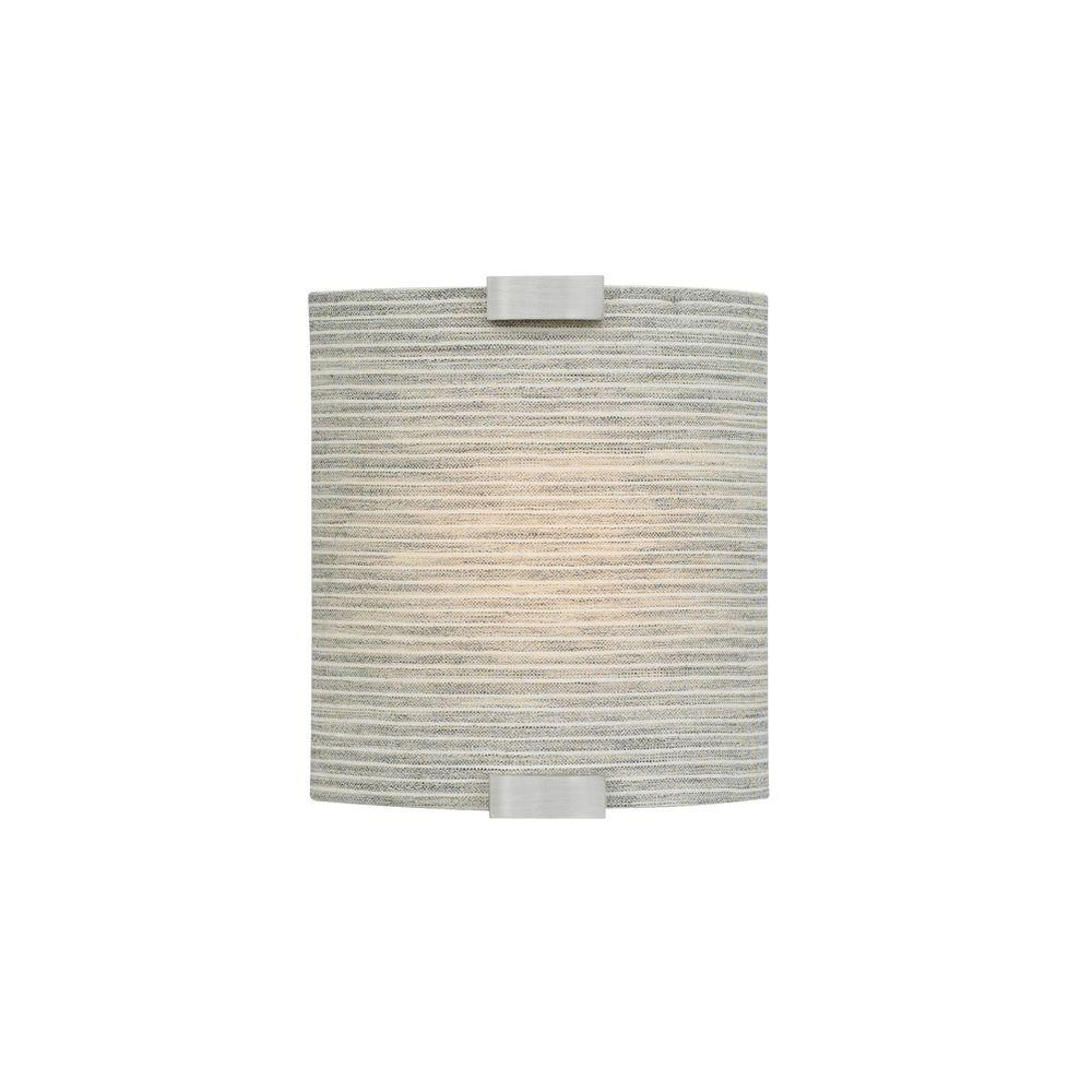 LBL Lighting Omni with Cover Small 1-Light Silver Pewter Sconce