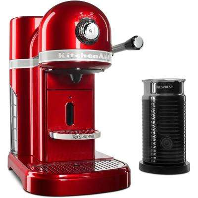 Nespresso 5-Cup Candy Apple Red Drip Espresso Machine with Milk Frother