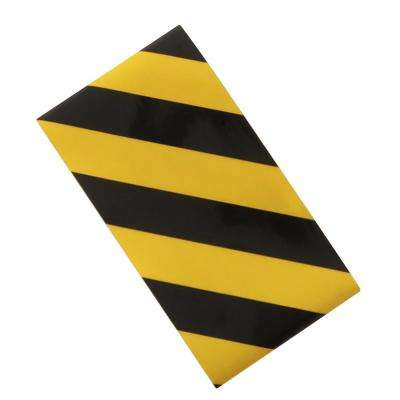 2 in. x 24 in. Black/Yellow Reflective Tape