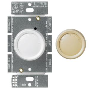Lutron rotary 15 amp single pole 3 speed fan control white lutron rotary 15 amp single pole 3 speed fan control white 750450 the home depot mozeypictures Images