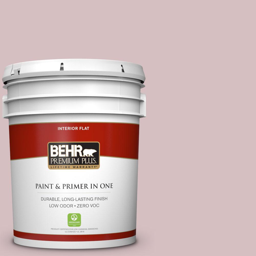 BEHR Premium Plus 5-gal. #710A-3 Sweet Breeze Zero VOC Flat Interior Paint