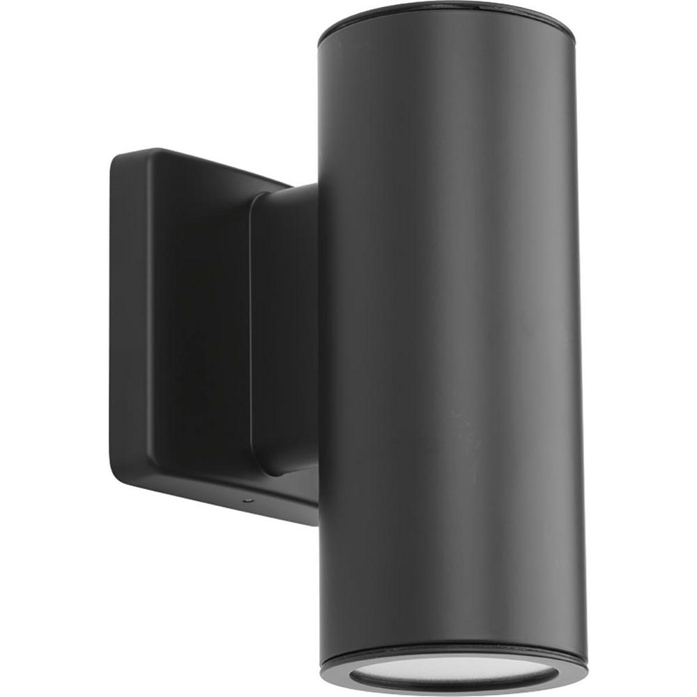 Progress Lighting Cylinders Collection 2 Light Graphite Integrated