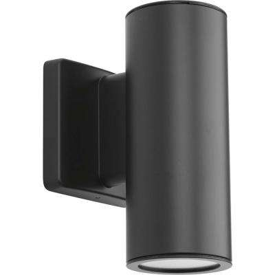 Cylinders Collection 2-Light Graphite Integrated LED Outdoor Wall Mount Cylinder Light
