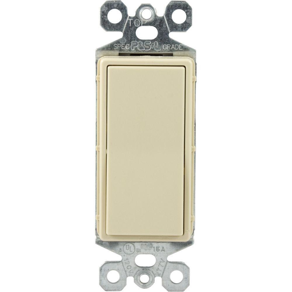 GE Single Pole Designer Wall Switch - Ivory