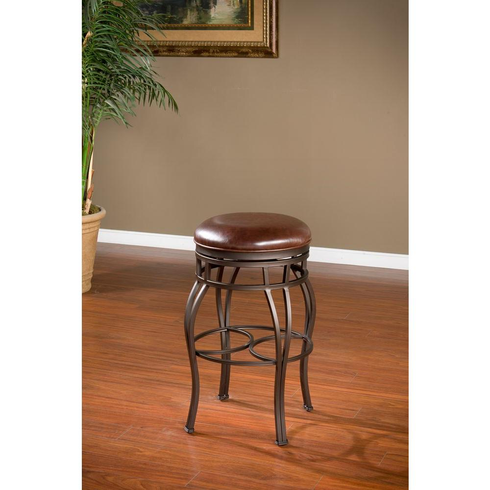 Bella 30 in. Pepper Cushioned Bar Stool