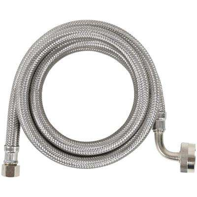 5 ft. Braided Stainless Steel Dishwasher Connector with Elbow