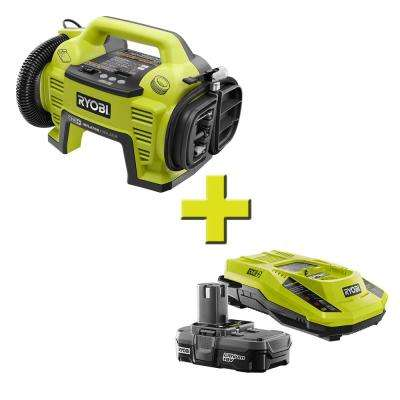 18-Volt ONE+ Dual Function Inflator/Deflator with Compact Battery and Charger