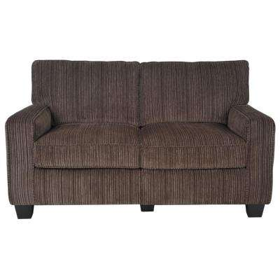 RTA San Paolo Mink Brown/Espresso Polyester Loveseat