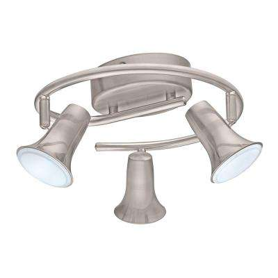 Jumilla LED 3-Light Matte Nickel Ceiling Track Lighting Kit