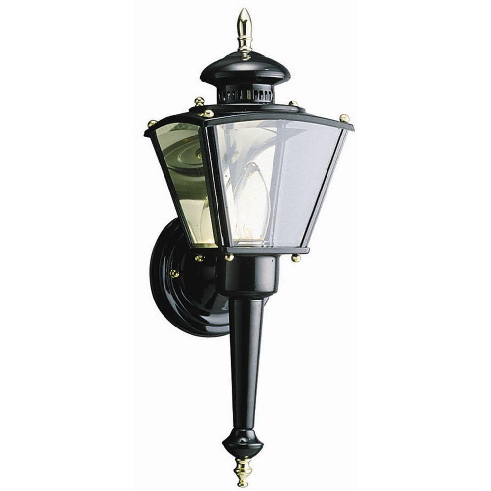 Design House Hancock Black Outdoor Wall-Mount Uplight-502369 - The ...