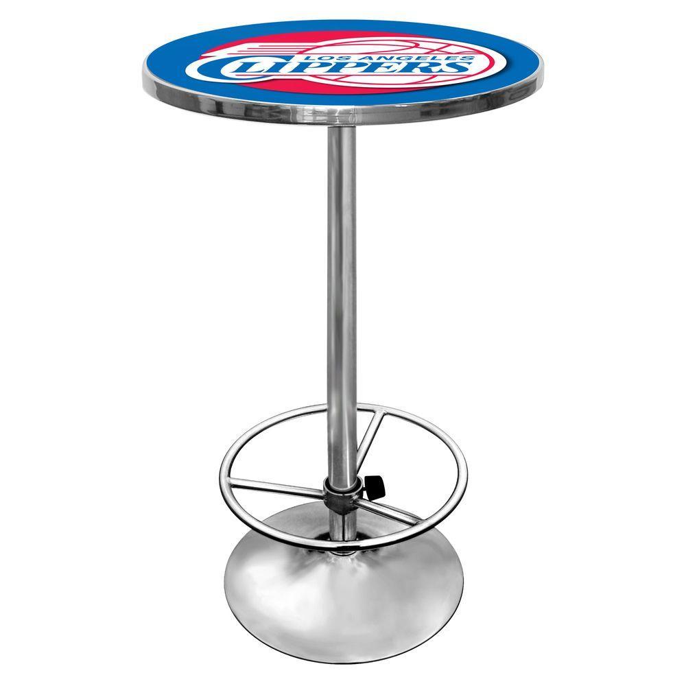 NBA Los Angeles Clippers Chrome Pub/Bar Table