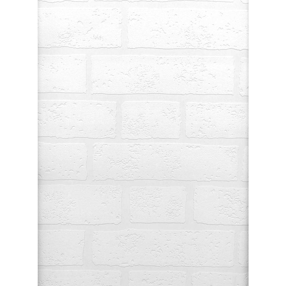 Brewster Belden Brick Texture Paintable Wallpaper 497-99423
