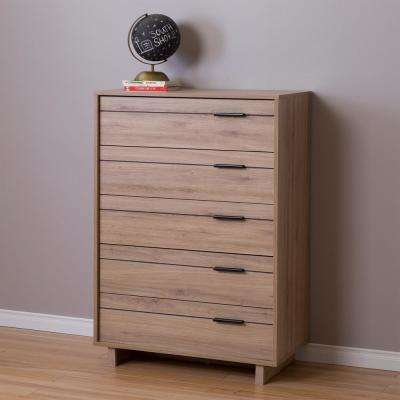 Fynn 5-Drawer Dustic Oak Chest