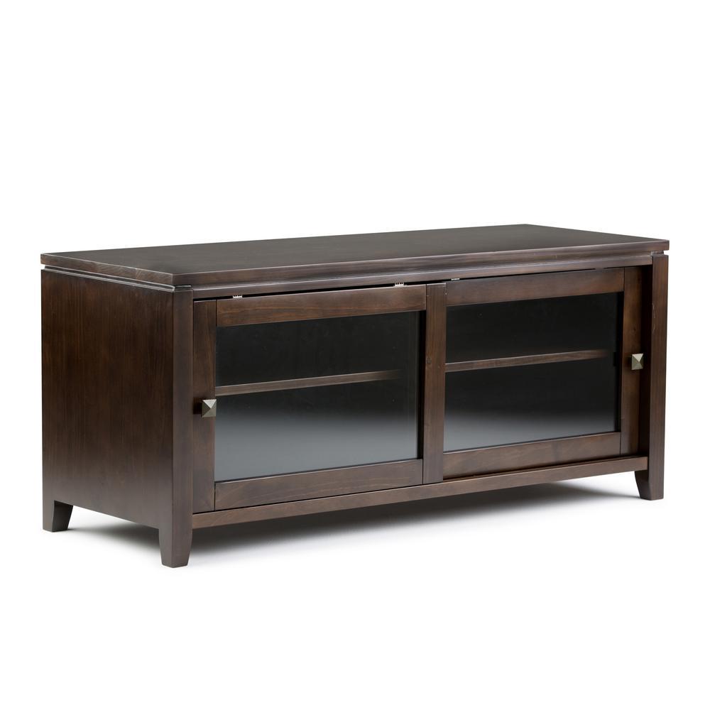 Simpli Home Cosmopolitan Solid Wood 48 in. Wide Contemporary TV Media