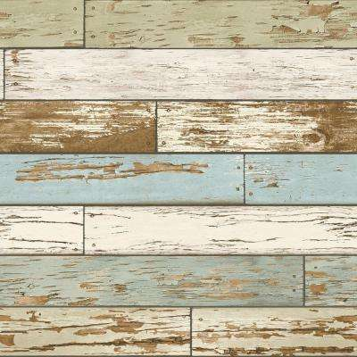 Old Salem Vintage Wood Peel and Stick Vinyl Strippable Wallpaper (Covers 30.75 sq. ft.)