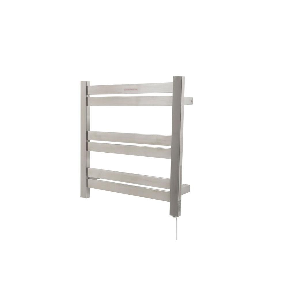Towel Heater Rack: ANZZI Starling 6-Bar Stainless Steel Wall Mounted Electric