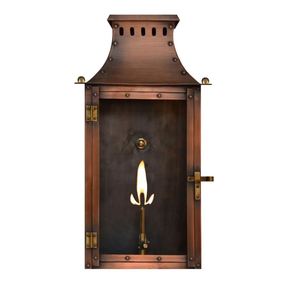 Filament Design Burkley 1-Burner 19 in. Copper Outdoor Natural Gas Wall Lantern