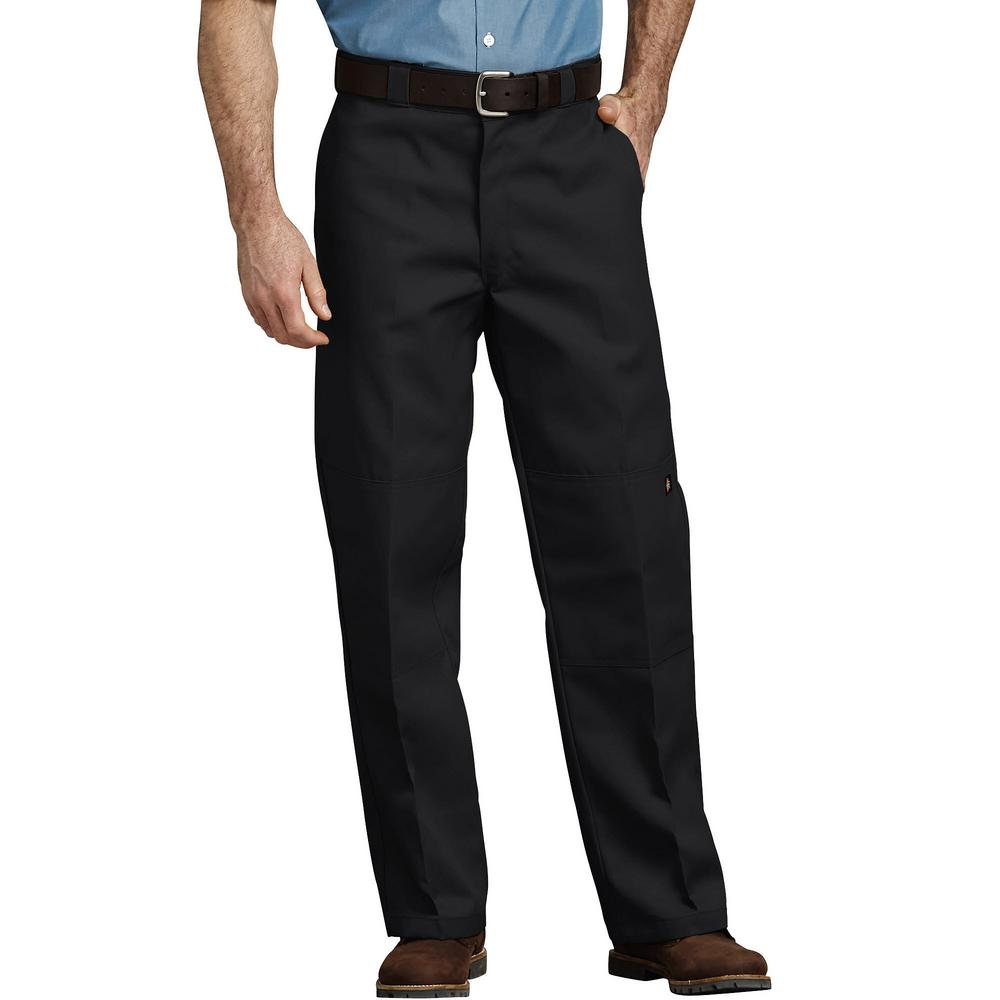 78f906e8 Dickies Men's Black Loose Fit Double Knee Work Pants-85283BK 30 34 ...