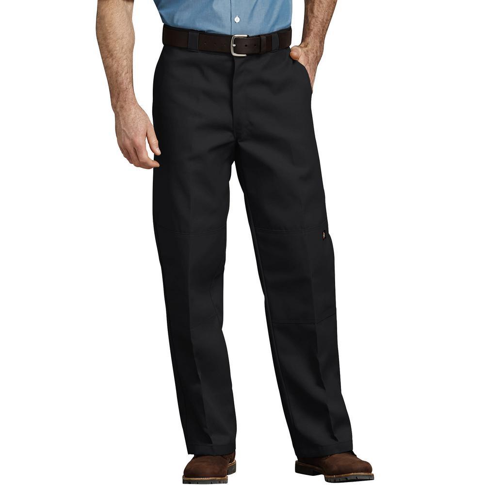 Dickies Men's Black Loose Fit Double Knee Work Pants