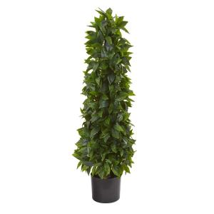 3 ft. Sweet Bay Cone Topiary Artificial Tree