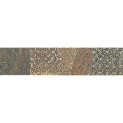 Ayers Rock Rustic Remnant 3 in. x 13 in. Glazed Porcelain Decorative Accent Floor and Wall Tile (0.32 sq. ft. / piece)