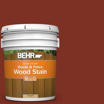 5 gal. #SC-330 Redwood Solid House and Fence Exterior Wood Stain