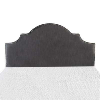 Gray Arched Queen/Full Studded Border Headboard