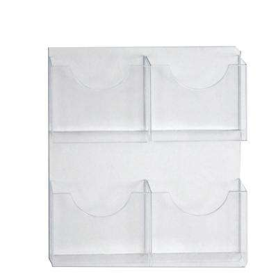 4-Pocket Wall Mount Letter Brochure Holder (2-Pack)