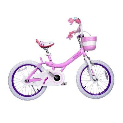 Bunny Girl's Bike, 18 inch wheels with basket gifts for kids, girls' bicycles, Pink