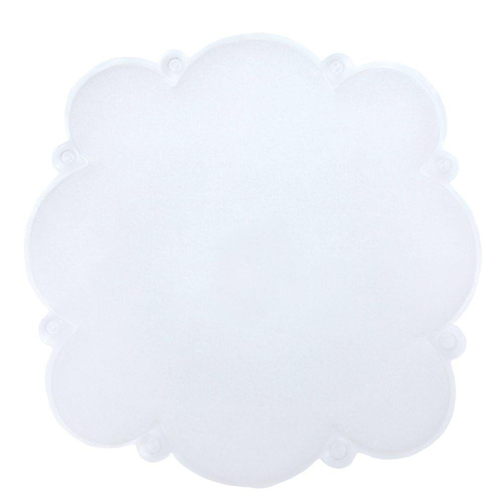 23 in. x 23 in. Cloud Shower Mat with Microban in