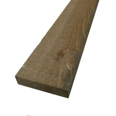 1 in. x 4 in. x 8 ft. Driftwood Brown Painted Rough Pine Barn Board (6 Per Box)