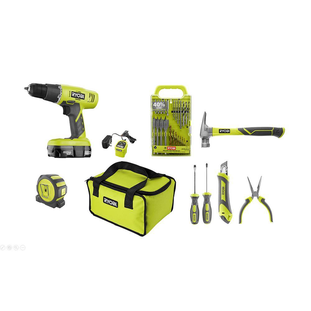 RYOBI 18-Volt ONE+ Home Owners Starter Kit