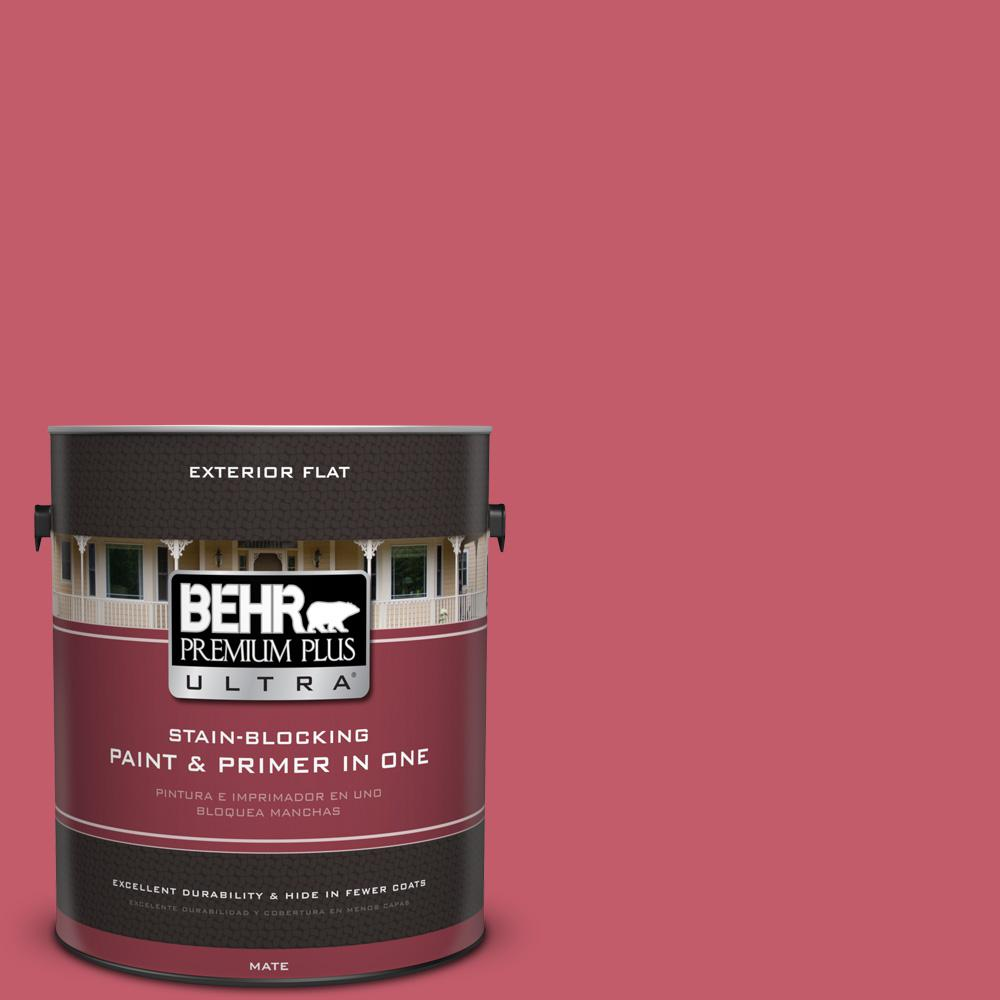 BEHR Premium Plus Ultra 1 gal. #MQ4-1 Candy Drop Flat Exterior Paint ...