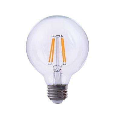 40-Watt Equivalent G40 Globe Dimmable Clear Glass Filament LED Light Bulb Warm White 2700K