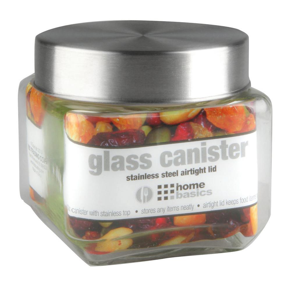 27 oz. Small Square Glass Jar