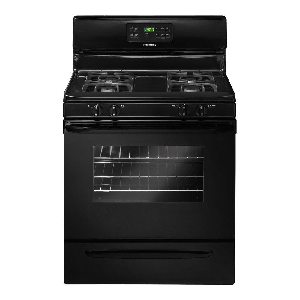 Frigidaire 30 in. 5.0 cu. ft. Gas Range with Self-Cleaning Oven in Black