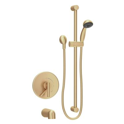 Dia 1-Handle Wall-Mounted Tub and Shower Trim Kit in Brushed Bronze (Valve Not Included)