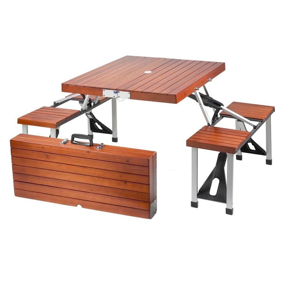 Lovely Leisure Season Portable Patio Folding Picnic Table