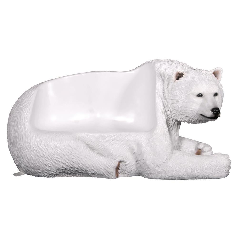 Polar Bear 2-Person 79 in. W Full Color Fiberglass Outdoor Bench