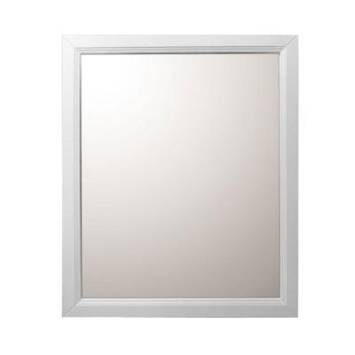 Huron 30 in. W x 1 in. D x 36 in. H Single Framed Wall Mirror in White