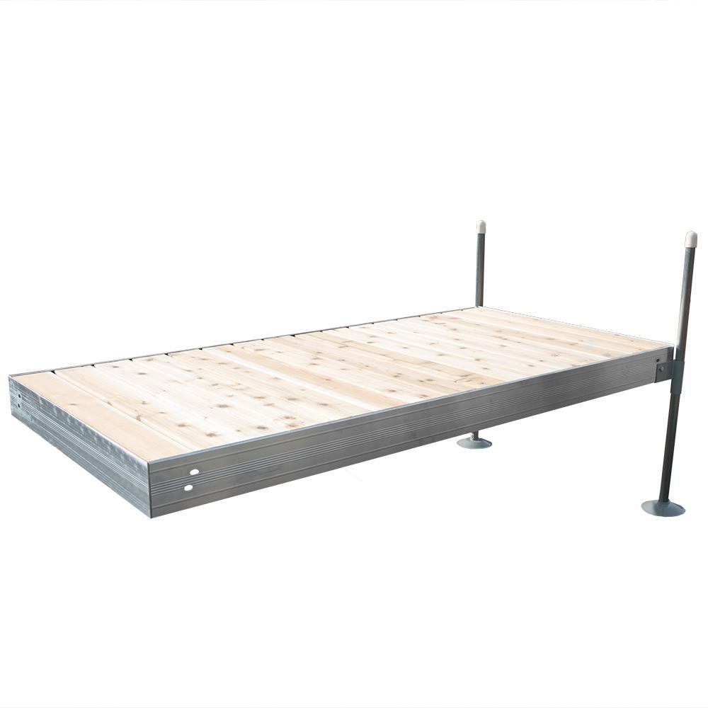 8 ft. Long Straight Aluminum Frame with Cedar Decking Complete Dock
