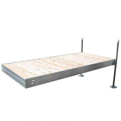 8 ft. Long Straight Aluminum Frame with Cedar Decking Complete Dock Package