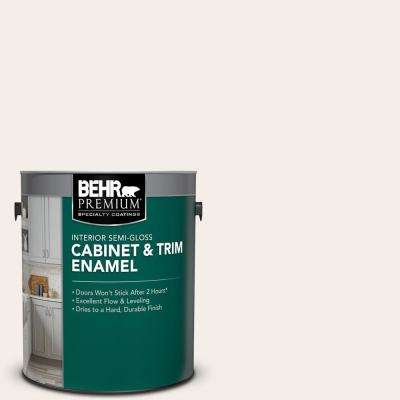 1 gal. #RD-W10 New House White Semi-Gloss Enamel Interior Cabinet and Trim Paint