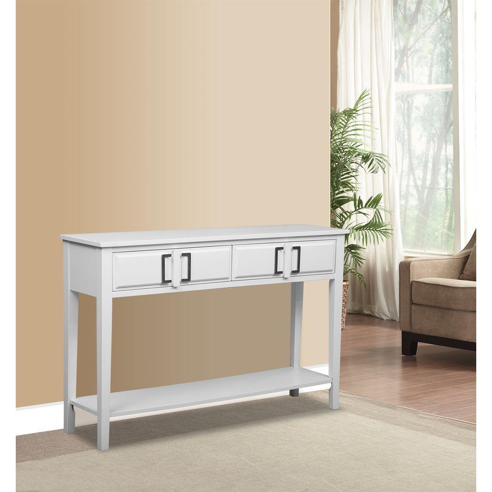 White Storage Console Table. Pulaski Furniture ...